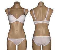 Affordable White Bra & Panty Set Size 34B 34C 36B 36C 38B 38C 40C Panty M L XL
