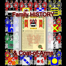Armorial Name History - Coat of Arms - Family Crest 11x17 ABBOTT-TO-AVILES