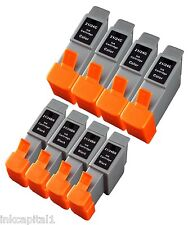 4 Black & 4 Colour Inkjet Cartridges Compatible With Printer Canon BCI-21