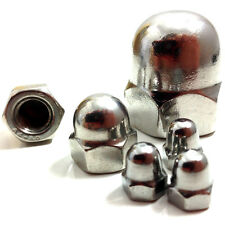 M4 (4mm) A2 STAINLESS STEEL DOME NUTS - DIN 1587 - METRIC THREAD - QUAD, BIKE