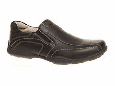 Mens Shoes Black Or Brown Grosby Tubb Slip On Casual Shoe Size 6-12 New