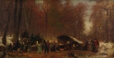 Different Sugaring Off Eastman Johnson 1865 - Art Photo/Poster Repro Print Many