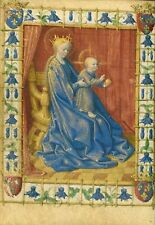 Photo Print Reproduction Virgin & Child Enthroned Jean Fouquet French Born