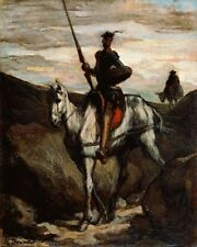 Don Quixote In Mountains Honore Daumier Art Photo/Poster Repro Print Many Sizes