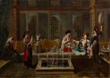 Conversation Vanmour School Firsthalf of the 18th Century- Art Photo/Poster Re