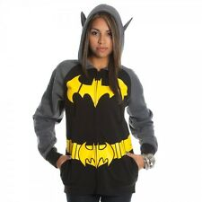 BATGIRL Batman S M L XL JR Zipup Hoodie Jacket Sweatshirt NEW dc comics costume
