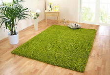 NEW SMALL - EXTRA LARGE LIME GREEN THICK SOFT LUXURIOUS NON-SHED SHAGGY RUG SALE