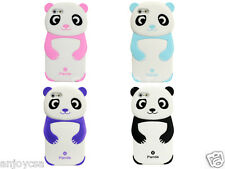 Cute Lovely Panda Skin Cover Soft Silicone Rubber Phone Case for Apple iPhone 5