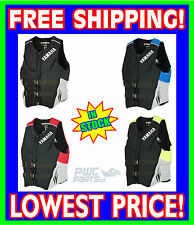 YAMAHA Neoprene USCG Approved Life Vest Jacket ALL SIZES BLUE RED BLACK YELLOW