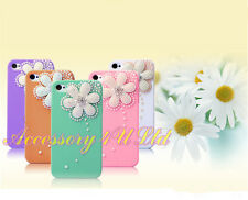 Stylish Bling Luxury Flower Diamond Case Cover For Apple iPhone+Screen Protector