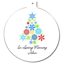 Personalised In Loving Memory Memorial Christmas Tree Ornament Round Decoration