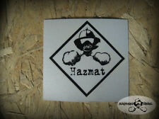 "Hazmat HSA Reflective Firefighter Helmet Decal Sticker 2"",4"". size"