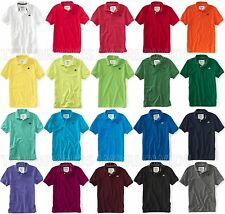 AEROPOSTALE MENS SOLID POLO SHIRT TOP T-SHIRT NWT A87 LOGO SCHOOL UNIFORM PIQUE