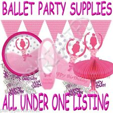 Girls Ballet Birthday Party Decorations Banners Invitations & Tableware Supplies