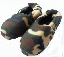 Boy's Army Camouflage Design Slippers sizes 9-3 available