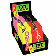 Text Speak Milk Chocolate Bar 35g Choose from LOL, OMG, QOFE or WTF (1 Supplied)