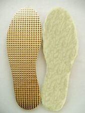 Aluminum & 100 % Wool Thermal  insoles  /New with latex - best walking comfort