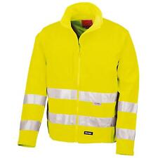 New RESULT Mens Hi Viz Neon 3 Layer Soft Shell Safety Jacket in Yellow S - 3XL