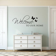 Welcome To Our Home Wall Sticker Art Vinyl Decal Transfer Lounge Hall Dining
