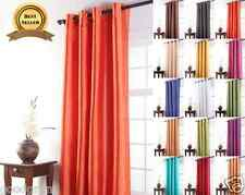 Tribeca Faux Silk Grommet Panels - Assorted Colors, Styles & Lengths