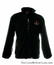 Mens Zip Fleece Jacket, Edinburgh Piper, Navy, All Sizes