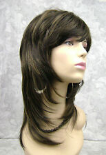 "18"" Long Straight Shag Blonde, Brown Full Synthetic Wig Wigs - #105"