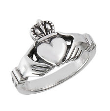 Sterling Silver Classic CLADDAGH Cladagh Claddaugh Ring Size 3-13