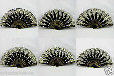Black Spanish FLAMENCO Wedding Party Folding Beautiful Dancing Hand Fan New