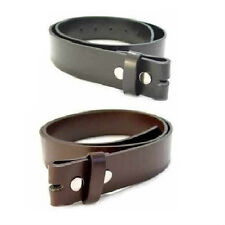 Leather Belt for Buckles Black or Brown Sizes XS M L XL 2XL 3XL 4XL