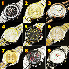 FREE SHIPPING Hot NEW LUXURY WATCHES MEN'S QUARTZ STAINLESS STEEL WRIST WATCHES