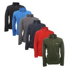 Regatta Mens Top Thompson Micro Half Zip Fleece S M L XL 2XL 3XL 4XL 5XL