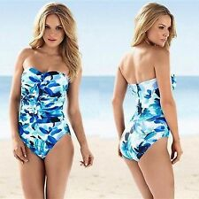 NWT-$162 MIRACLESUIT SWIMWEAR 10/12/14/16 'CAMILLA' BLUE FLORAL 80744