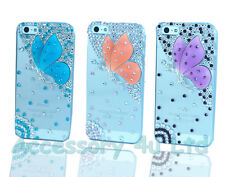 LUXUARY 3D BUTTERFLY DIAMOND CRYSTAL BLING CASE COVER FOR APPLE IPHONE 4/4S/5