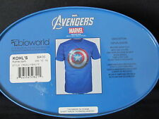 Captain America T-Shirt in Collectible Tin-NEWw/tags 100% Cotton-Marvel Licensed