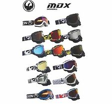 Dragon MDX Snowmobile Polka / Blue Ion Goggles Winter Offroad Down Hill MX ATV