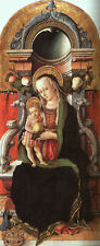 Photo Print Madonna and Child Enthroned with a Donor Crivelli, Carlo - in variou