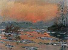 Photo Print Sunset on the Seine in Winter Monet, Claude - in various sizes jwg-2