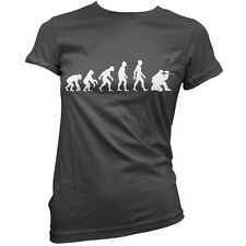 Evolution of Man Paintball Womens / Ladies T-Shirt / Jersey / 11 Colours - S-XXL
