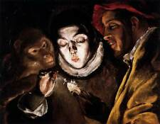 Photo Print An Allegory with a Boy Lighting a Candle in the Company of an Ape an