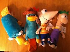 BNWT Disney Store Soft Plush Phineas & Ferb Agent P Perry the Platypus