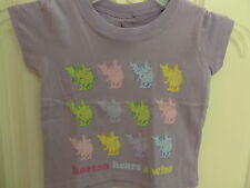 "NWOT Dr.Seuss Toddler Girls ""Horton Hears A Who"" Puple Short Sleeve Tee: 2T & 3T"
