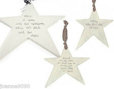 EAST OF INDIA WOODEN WOOD STAR FRIEND HANGING PLAQUE SIGN BIRTHDAY PRESENT GIFT