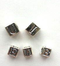 Sterling Silver Alphabet Beads - 4.5mm and 5.6mm