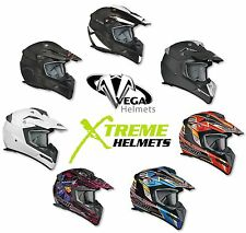 Vega Stealth Flyte Dirt Bike Motocross MX Off Road Helmet DOT XS S M L XL 2XL