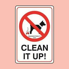 Warning Signs 150x200mm Clean It Up + Fine Dog Fouling Sign (0793)