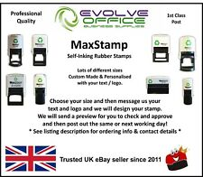 Personalised Rubber Stamp Self Inking Name Address Business Garage School etc