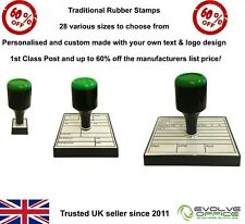 Personalised Rubber Stamp Traditional Style Name Address Business Garage Schools