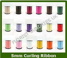 2 x 100m FLORISTRY 5mm CURLING RIBBON - 15 COLOURS - CHRISTMAS SPECIAL OFFER