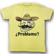 Troll Face You Mad Problemo? Mens Yellow T-Shirt