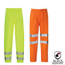 MENS HI VIS WATERPROOF YELLOW TROUSERS HIGH VISIBILITY SAFETY OVER CONTRACTOR